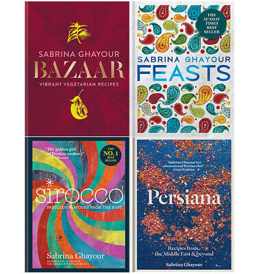 Bazaar, Feasts, Sirocco, Persiana 4 Books Collection Set By Sabrina Ghayour NEW