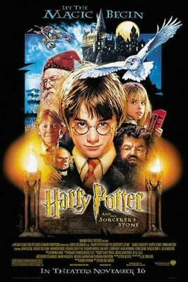"HARRY POTTER AND THE SORCERER'S Classic Movie Poster 24x36""/60x90cm Silk Print"