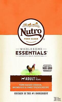 Nutro Wholesome Essentials Adult Chicken,Brown Rice & Sweet Potato Dog Food 30LB