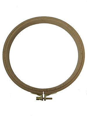 """Nurge Premium Beech Wood Gold Clasp Embroidery Hoop 7"""" Inches/19cm Diameter"""