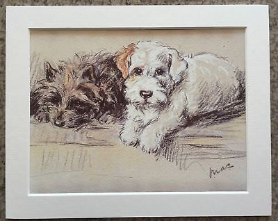 """Lucy Dawson (Mac) Just Good Friends - 8""""x10"""" Mounted Art Print - Dog Picture"""
