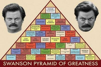 photo regarding Ron Swanson Pyramid of Greatness Printable Version named MCASTING PARKS AND Video game Poster - Ron Swanson Pyramid