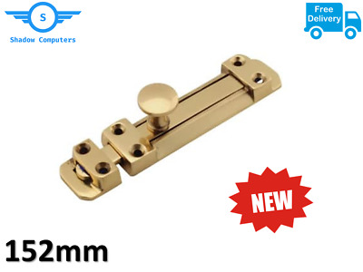 Heavy Duty Solid Brass Sliding Door Bolt Dead Lock Slide Bathroom Gate Catch 6""