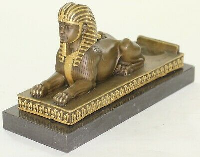 100% Solid Bronze Sphinx  Museum Quality Artwork Home Office Decoration Decor