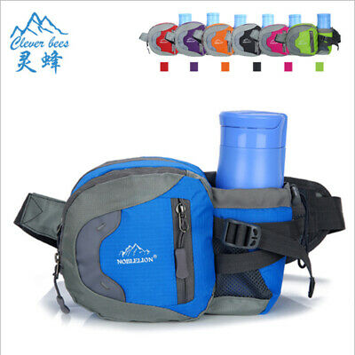 Waist Pack with Water Bottle Holder Chest/Bum Bag for Running Hiking Cycling New