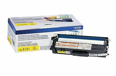 Genuine Brother Toner Cartridge, Yellow, High Yield (TN-315Y)