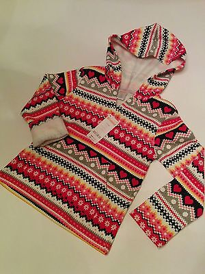 NWT GYMBOREE Girls Fleece Jacket Hoodie Pullover Winter Holiday Multi colors