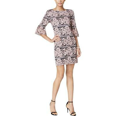 3c88ac93ba5 Jessica Howard Womens Pink Lace Floral Embroidery Cocktail Dress 6P BHFO  3515