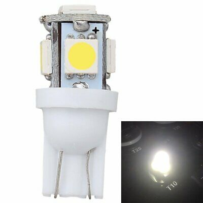 20Pcs T10 5050 W5W 5SMD 194 168 LED White Car Side Wedge Tail Light Number Bulb