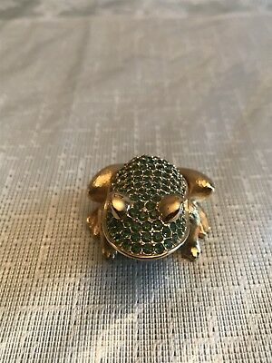 Estee Lauder 1997 White Linen 'Prince Charming' Frog Compact for Solid Perfume