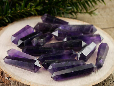 AMETHYST QUARTZ Point - One Double Terminated Amethyst Crystal Point E1419