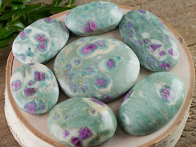 RUBY FUCHSITE Palm Stone Cabochon Gemstone - One XS, S, M, L or XL Size E1425