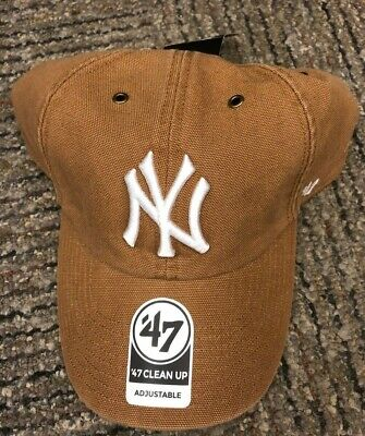 a8437eecb8ffe Carhartt X 47  New York Yankees Clean Up Brown Baseball Hat MLB NY NWT