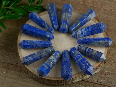 LAPIS LAZULI Stone Point - One Double Terminated Crystal Wand E1401