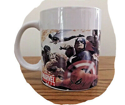 Merchandise & Memorabilia Marvel Heroes Coffee Mug 2006 Sherwood Comic Captain America Superheroes
