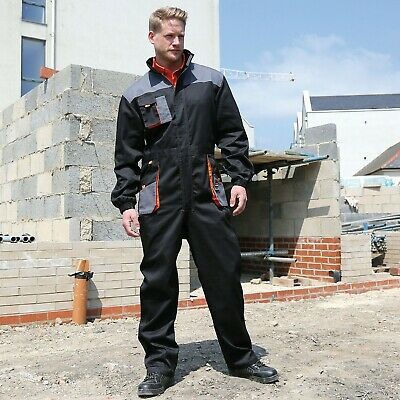 Result Lightweight Coveralls Mens Summer Work Wear Overalls Breathable (R321X)
