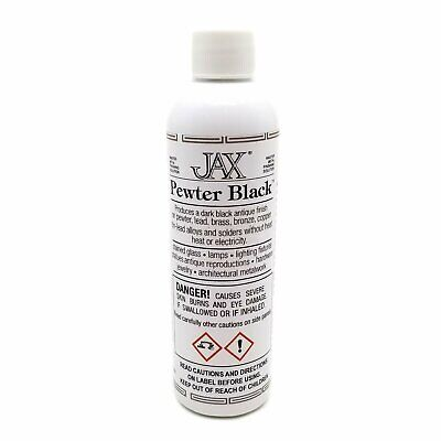 JAX Pewter Black Antique Finish Lead Brass Bronze Copper & Solder 4 oz Bottle