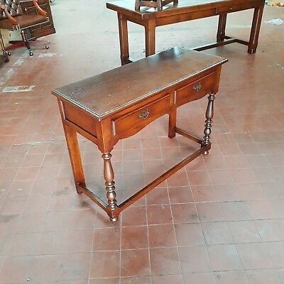 Antique/reproduction 2 Drawer Solid Oak Console/hall/telephone/lamp/side Table