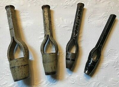 """Lot of 4 - Adco Round Leather 13/16"""" & 7/8"""" Hole Punches, Vintage ERDA"""