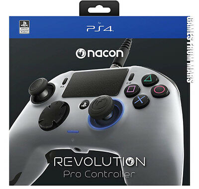 NACON REVOLUTION PRO CONTROLLER SILVER PS4 NUOVO / Joypad Wired Playstation 4