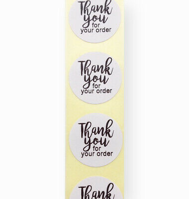 25mm round thank you for your order white business labels stickers