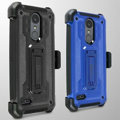 For LG Tribute Dynasty / Zone 4 / Aristo 2 Belt Clip Holster Cover Phone Case