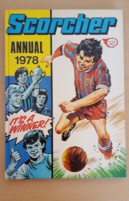Vintage Scorcher Football Hardback Annual 1978 Price Clipped