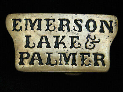 Qb13171 Vintage 1978 **Emerson Lake & Palmer** Music Solid Brass Belt Buckle