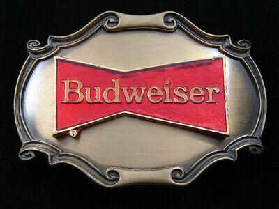 Rd19116 *Nos* Vintage 1978 **Budweiser** Beer Advertisement Belt Buckle
