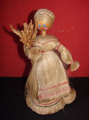 Vintage Traditional Russian Doll Wood & Fibre