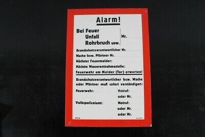 Notice Sign Shield Alarm Plaque Emergency Call Fire Protection 29cm x 20,5cm