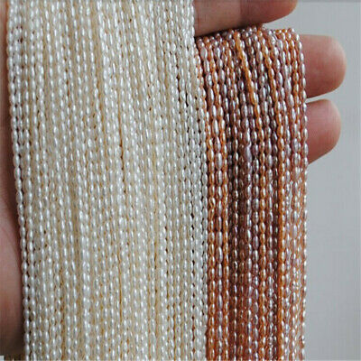 1.8mm natural pearl small rice beads 38cm elegant Gift DIY Jewelry Classic women