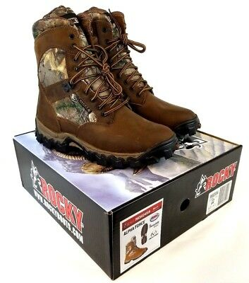 ae5c217ff8b ROCKY MEN'S ALPHA Force Waterproof 400G Insulated Outdoor Camo Boots US 8  Z455