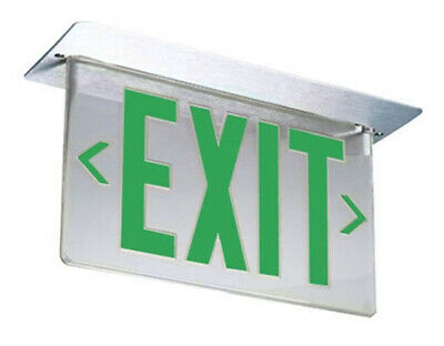 Lithonia GREEN EXIT SIGN LRP W 2 GMR LRA 120/277 EL N PNL fire safety business