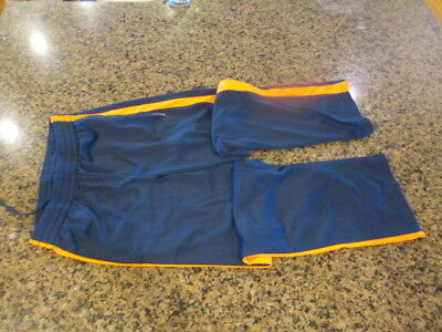 Reebok Boys girls XL Kids Youth Sweat Pants Blue orange tie draw string elastic