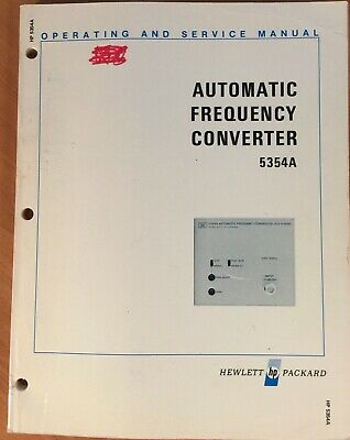 HP 5354A Frequency Converter Operating & Service Manual P/N 05354-90006