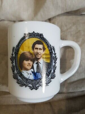 Vintage Commemorative Marriage Prince of Wales & Lady Diana Arcopal France Mug