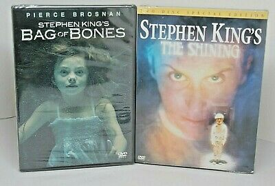 Stephen King dvds-2 TV movies THE SHINING 1997-w/ slipcase / BAG OF BONES 2011