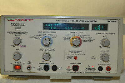 Sencore Universal Horizontal Analyzer model HA2500 with load & ringer leads