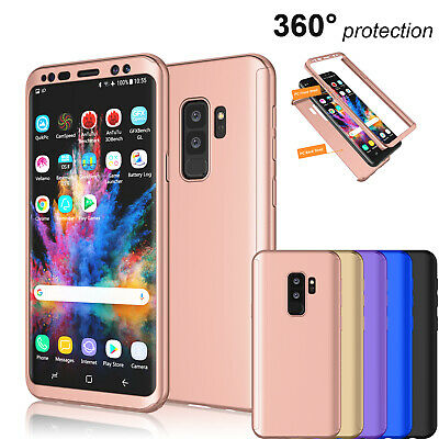 For Samsung Galaxy S9 / S9 + Plus 360° Full Body Hard Case + Screen Protector