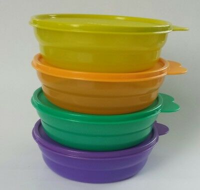 Tupperware IMPRESSIONS MICROWAVE CEREAL BOWLS set of 4