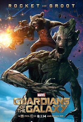 Guardians Of The Galaxy movie poster  11 x 17 inches - Rocket & Groot poster