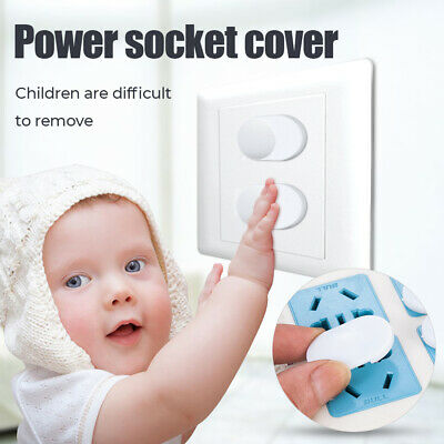 20Pcs Power Socket Outlet 2 Plug Protective Cover Guard Baby Safety Protector TR