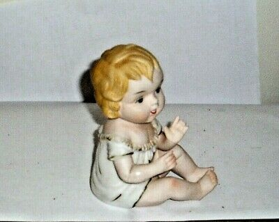 Antique Piano Doll Bisque Porcelain Figurine Baby Girl Possible German