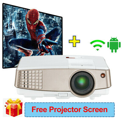 Full HD Android WiFi Projector Portable Home Cinema Sports Game and 84'' Screen