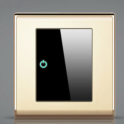Wall Light Switch 1 Way 1 Gang Plated Acrylic Panel Modern Home Decoration 86mm