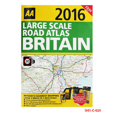 Large Scale Atlas Britain 2016 AA Road Atlas By AA Publishing Paperback NEW