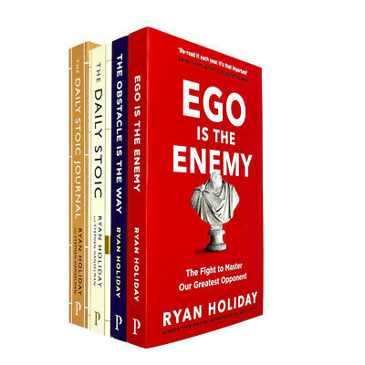 Ryan Holiday The Daily Stoic Journal,Ego Is The Enemy 4 Books Collection Set NEW