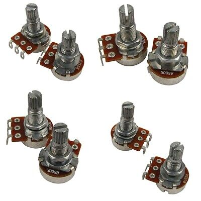 Mini Split Shaft Audio Pot Guitar Long Potentiometers For Fender Stratocaste 2P4