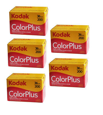 New Boxed Kodak Colorplus 200 35mm 36exp Film 5Rolls  / Date 2021 100% Real